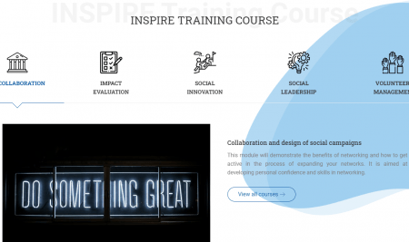 INSPIRE platform and E-learning courses coming this May